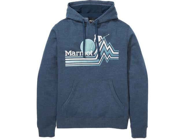 Marmot Piste Hættetrøje Herrer, blå
